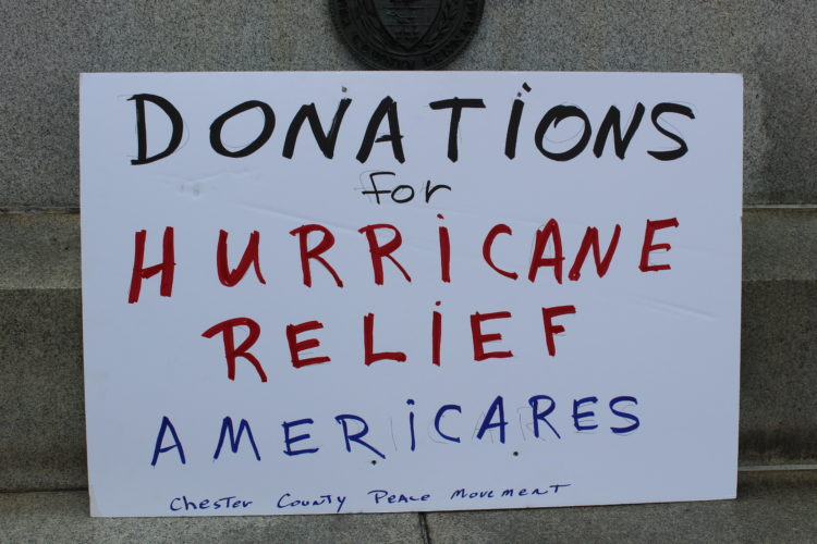 Collecting Donations for Hurricane Relief